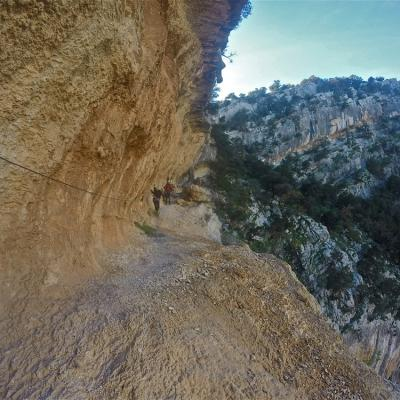 Via Ferrata Badde Pentumas Sardinia Walking On The Ledge