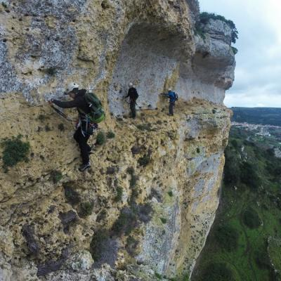 Sardegna Sardinia Via Ferrata Giorr Walking On The Lower Ledge