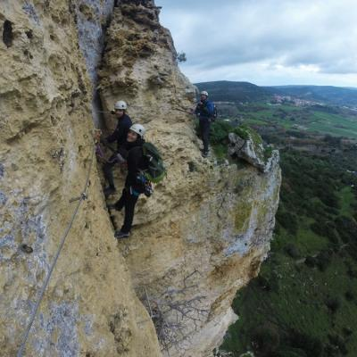 Sardinia Via Ferrata Giorr A Good Exposed Point